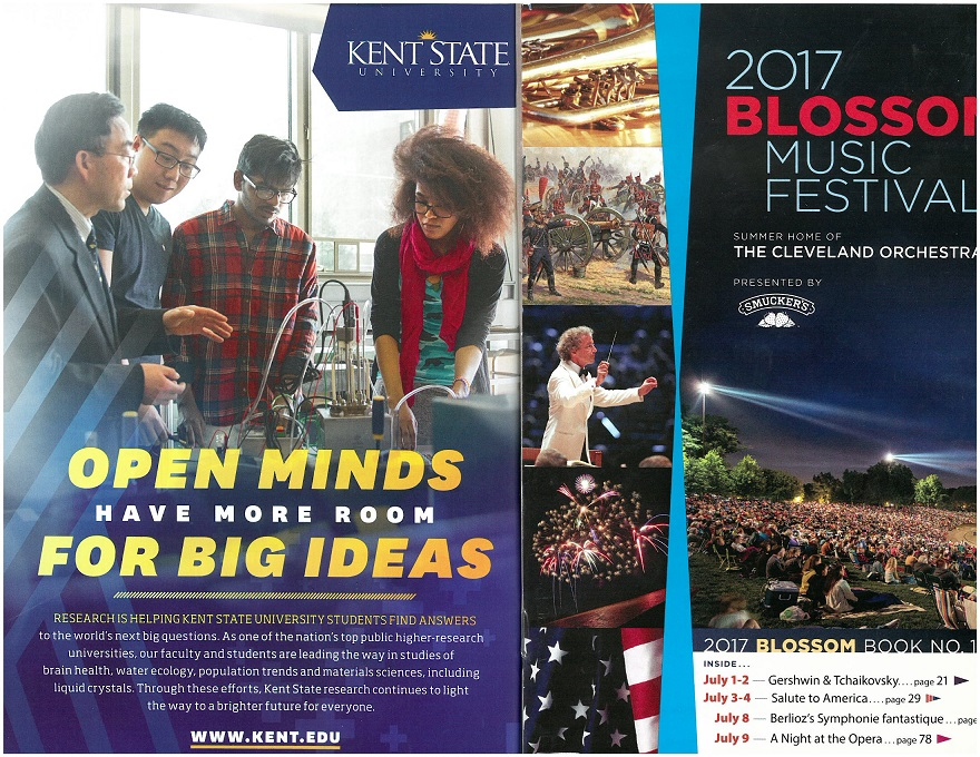 photo Fuel Cell Team featured on cover of 2017 Blossom Music Festival booklet no. 1