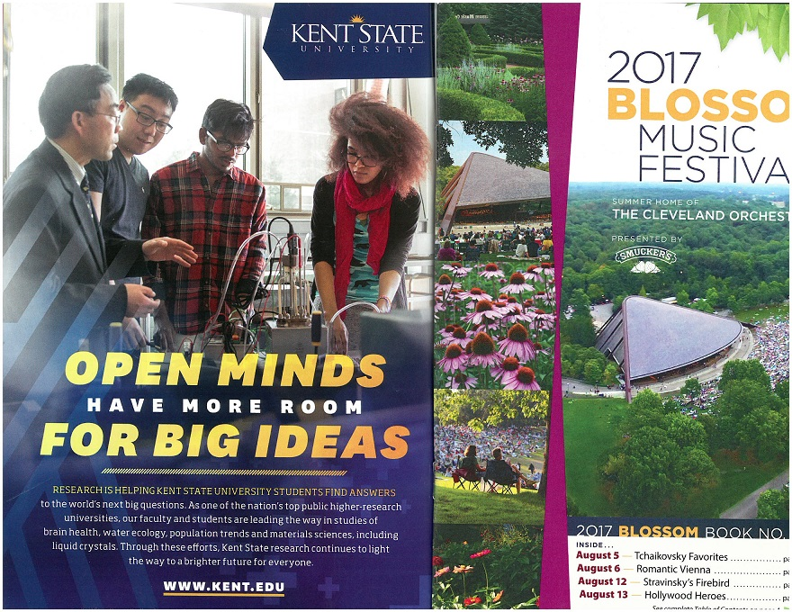 photo Fuel Cell Team featured on cover of 2017 Blossom Music Festival booklet no. 3