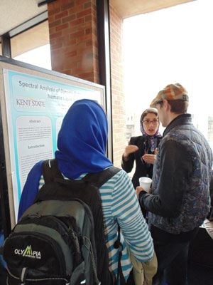 """Mansoureh Shasti discusses her poster """"Spectral analysis of dynamic scattering mode in nematic liquid crystals"""""""
