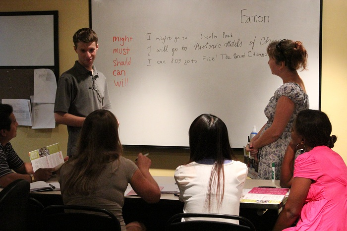 TEFL Student Teaching in a Classroom