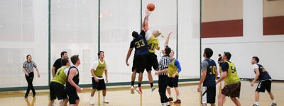 intramural basketball game