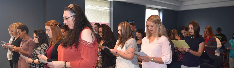 Reciting the Florence Nightingale Pledge