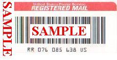 registered mail sticker