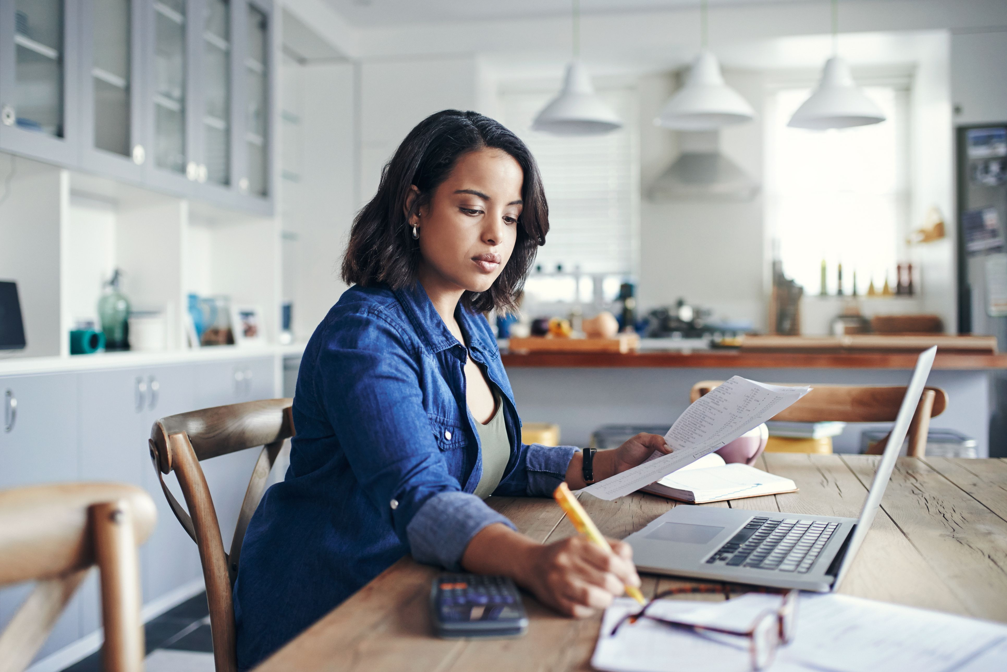 Image of a person working from home