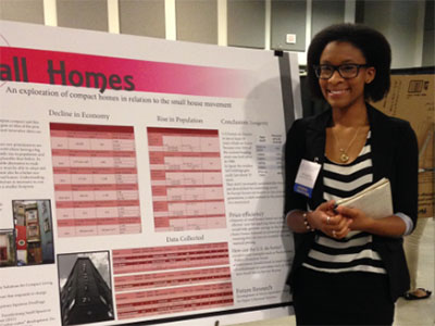 Scholar presenting at McNair Conference