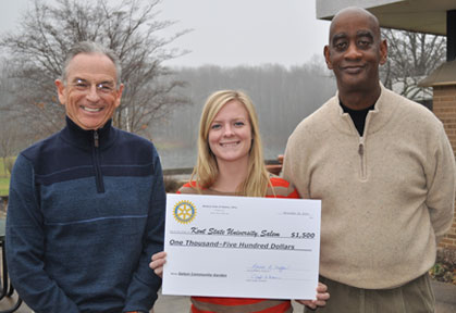 Rotary Check to Help the Discovery Garden Grow