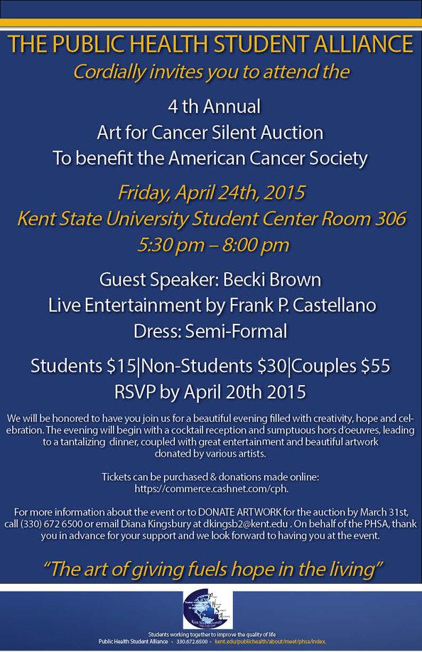 Art for Cancer Silent Auction