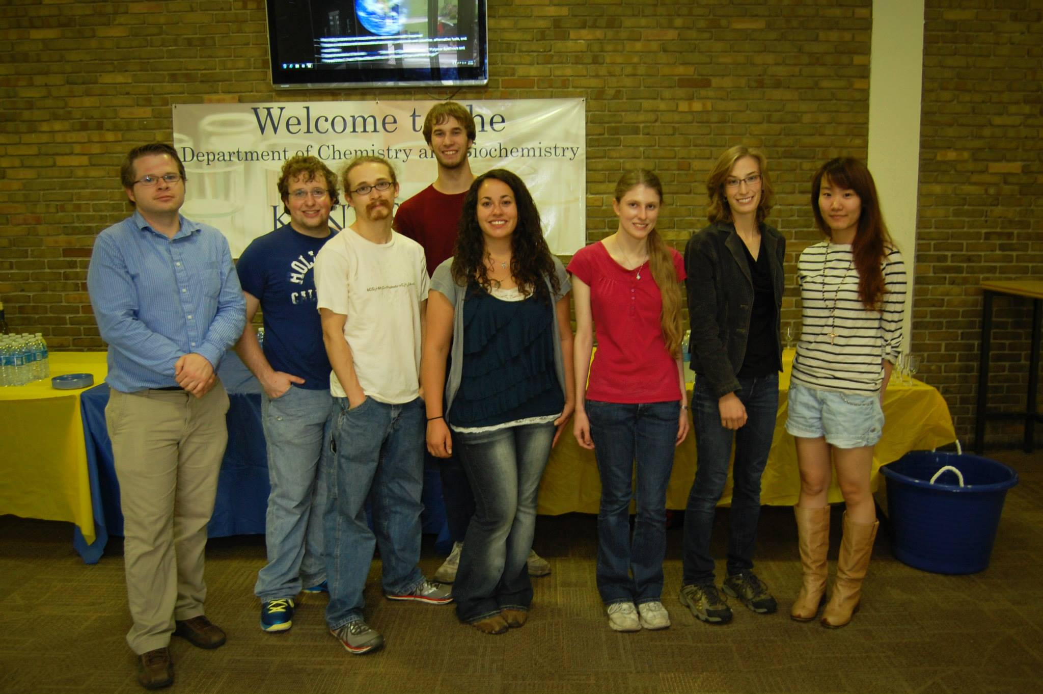 Members of the Kent State chapter of the Student Affiliates of the American Chemical Society (SAACS)