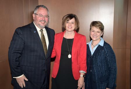 Sarah Sigler with Steve and Dr. Warren