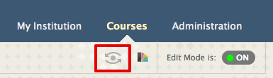 Student Preview button in Blackboard Learn