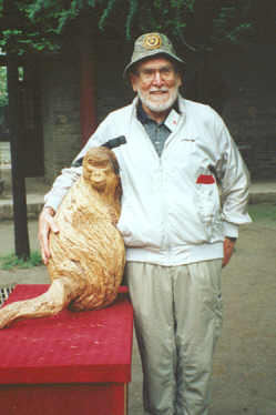 F. Robert Treichler with Monkey