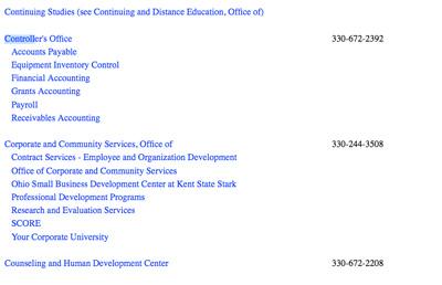 Unofficial Online Directory Screenshot