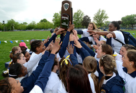 Kent State women's track athletes celebrate winning the MAC championship this past May. Kent State's student- athletes continued to raise the bar in the classroom, making the spring of 2013 their best semester in recorded history with an all-time high cumulative grade point average.