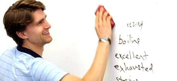 TEFL Student Teaching, Writing on Whiteboard