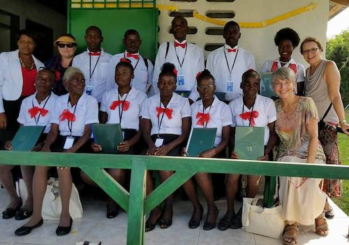 The first graduating class of nurse midwives