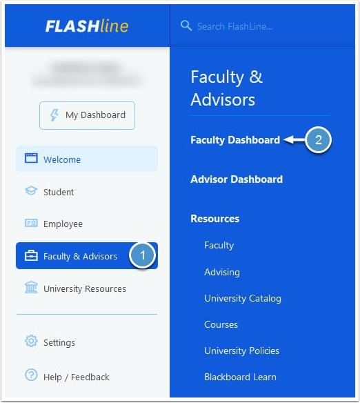 Faculty and Advisor tab