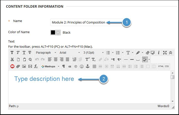 Folder information