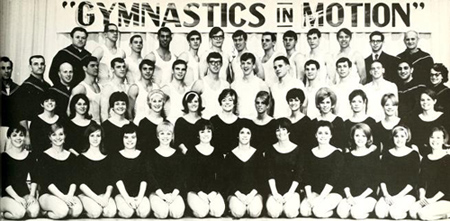 Ganim with her teammates (second row, 4th from the left). 1968 Chestnut Burr