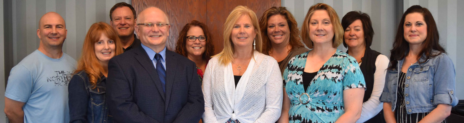 Congratulating Debbie Riggs (center) on receiving the President's Award of Distinction