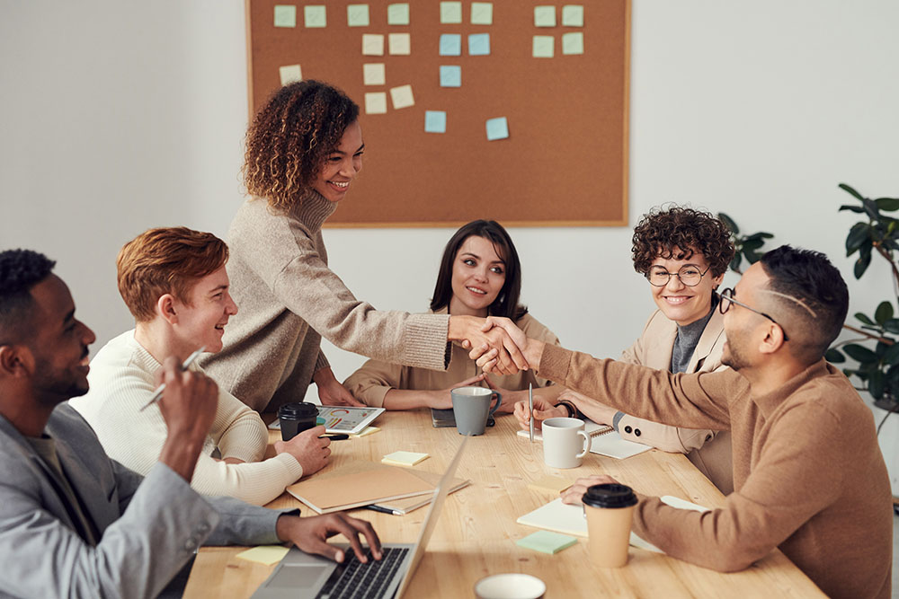 Business People Collaborating Together