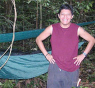A graduate student, conducting primate field research in his native Suriname.