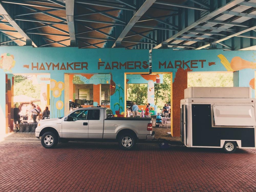 Haymaker Farmers' Market in downtown Kent