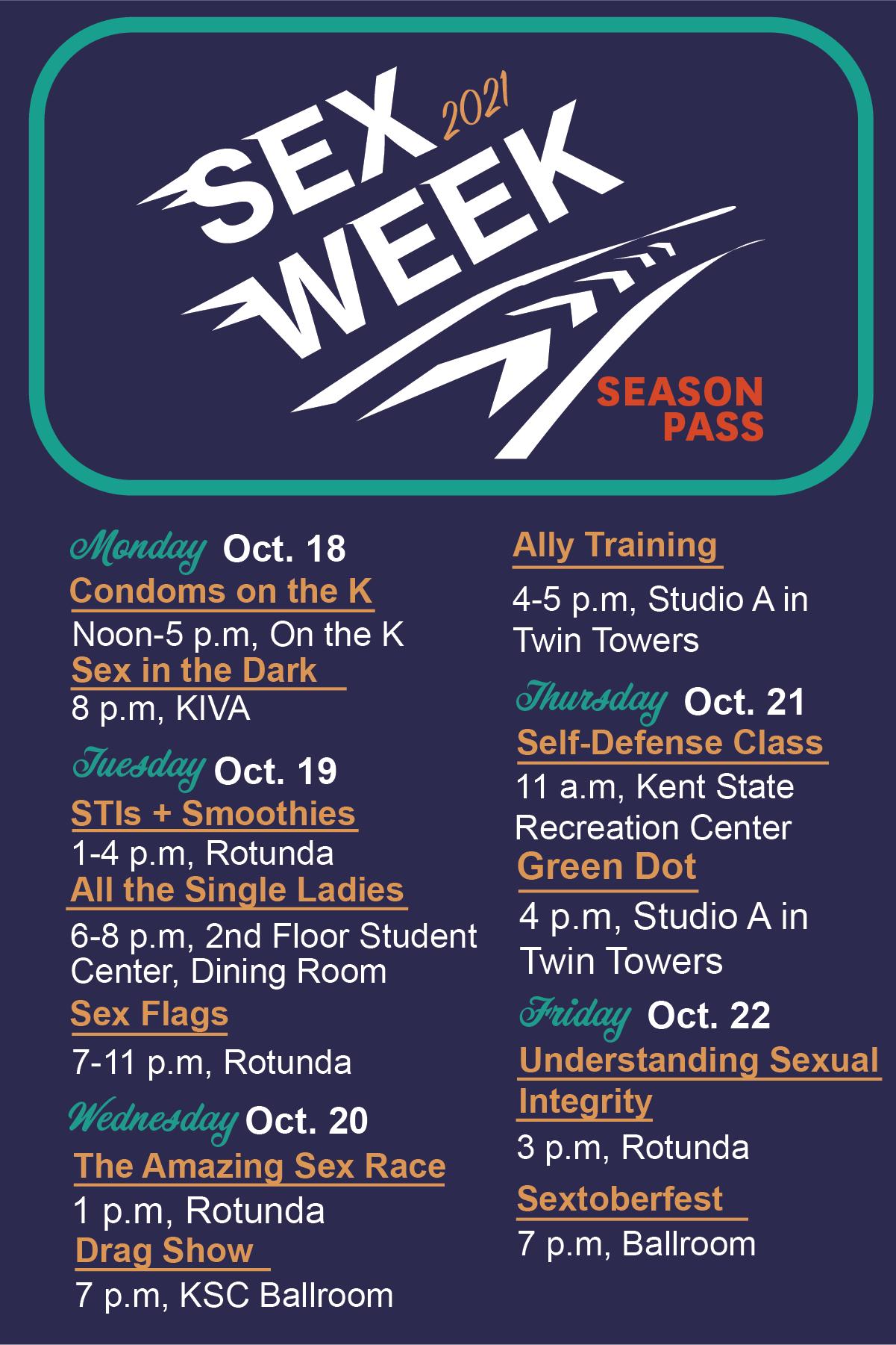 Sex Week2021 schedule