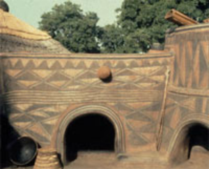 Frafra painted house, northern Ghana as researched by Fred Smith.