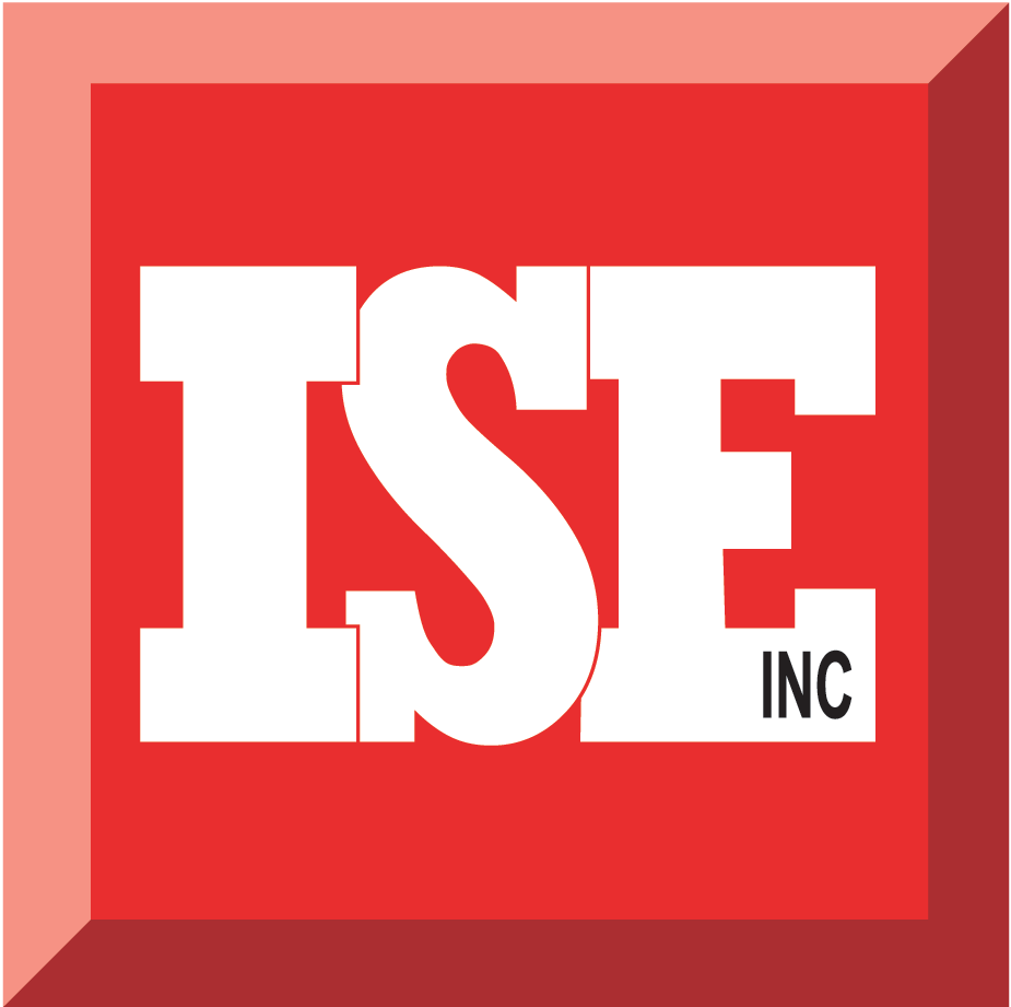 ISE, Inc. logo red square raised box with white lettering