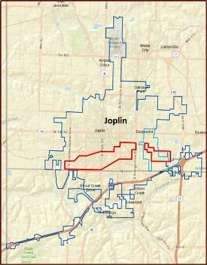 Post-Tornado Landscape of Joplin, Missouri