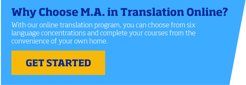 Why M.A. In Translation
