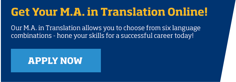 Get your M.A. in translation online
