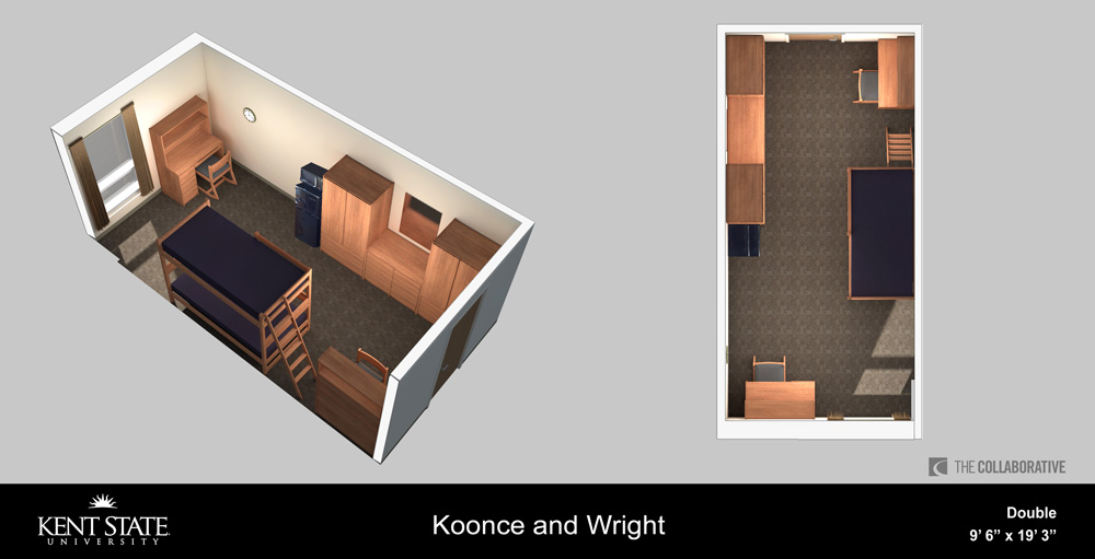 View the Koonce and Wright Double room diagram in high resolution