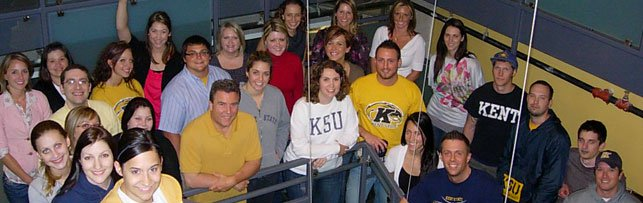 Kent State Alumni posing for a photo