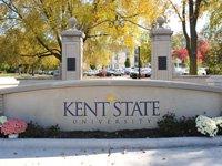 Kent State University sign background