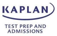 Kaplan Test {rep and Admissions Logo