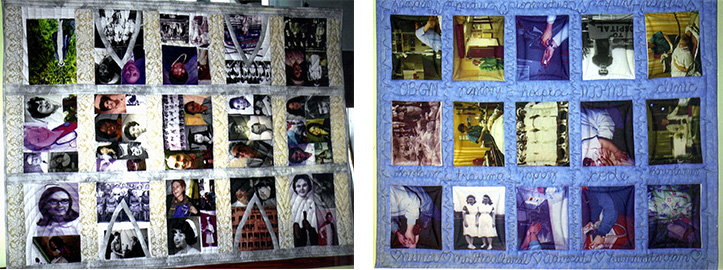 In conjunction with the book, Bryner also commissioned two quilts depicting the faces of the contributors.