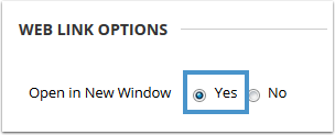 Web link options