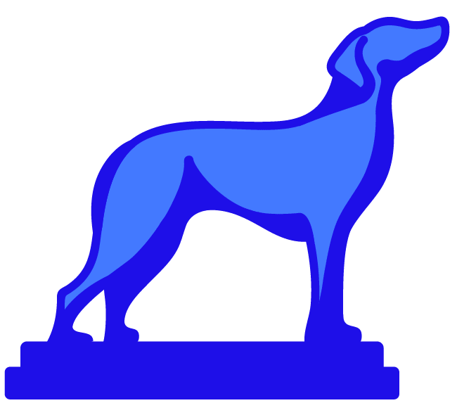 Coursedog logo - it is a blue dog