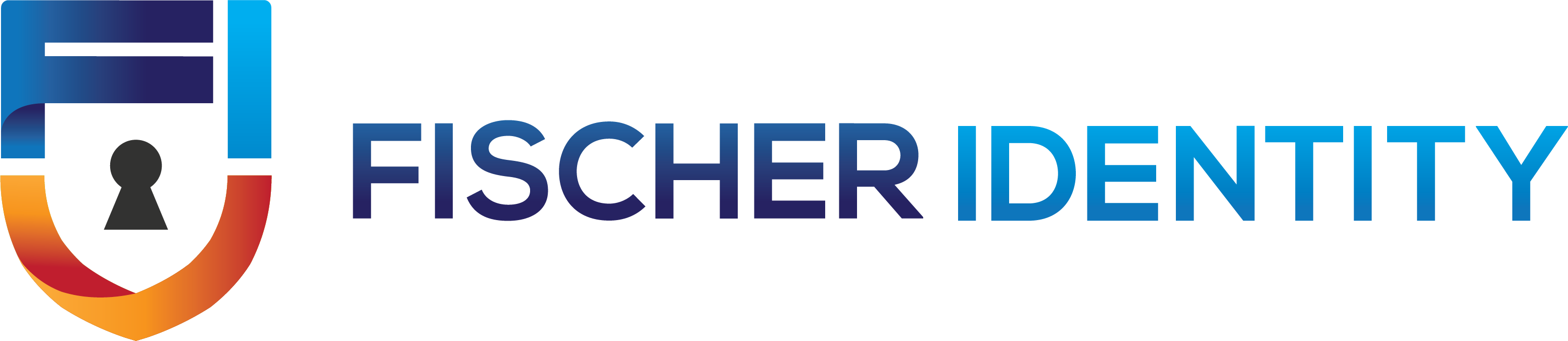 Fisher International Logo - keyhole with the words Fischer Identity