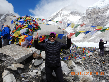 Marcy made it to Mount Everest Base Camp!