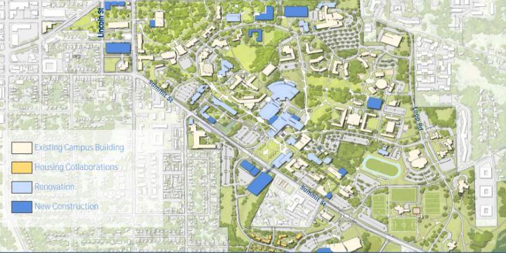 Rendering of master plan map