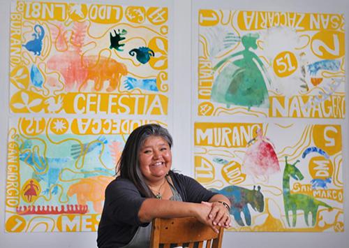 Melanie Yazzie, printmaking visiting artist