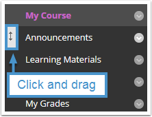 Re-order course menu links