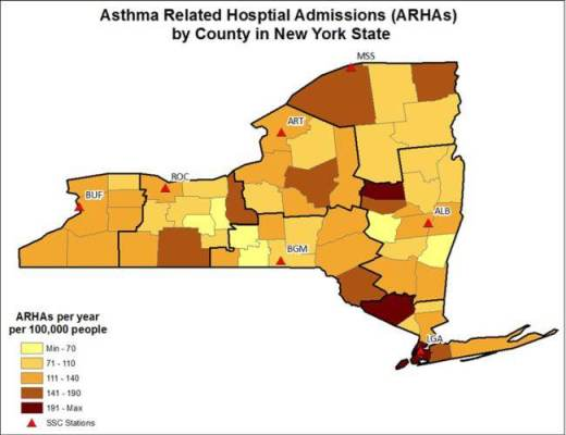 Asthma Related Hospital Admissions in New York State