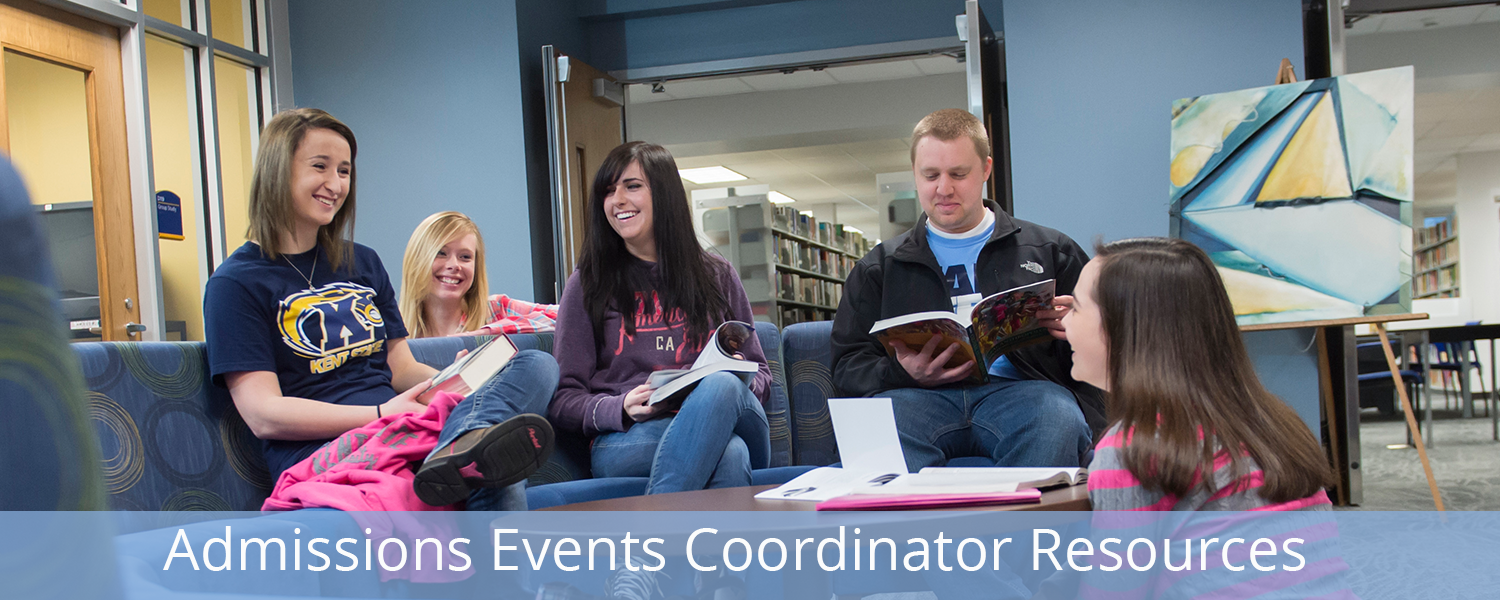 Admissions Events Coordinator Resources