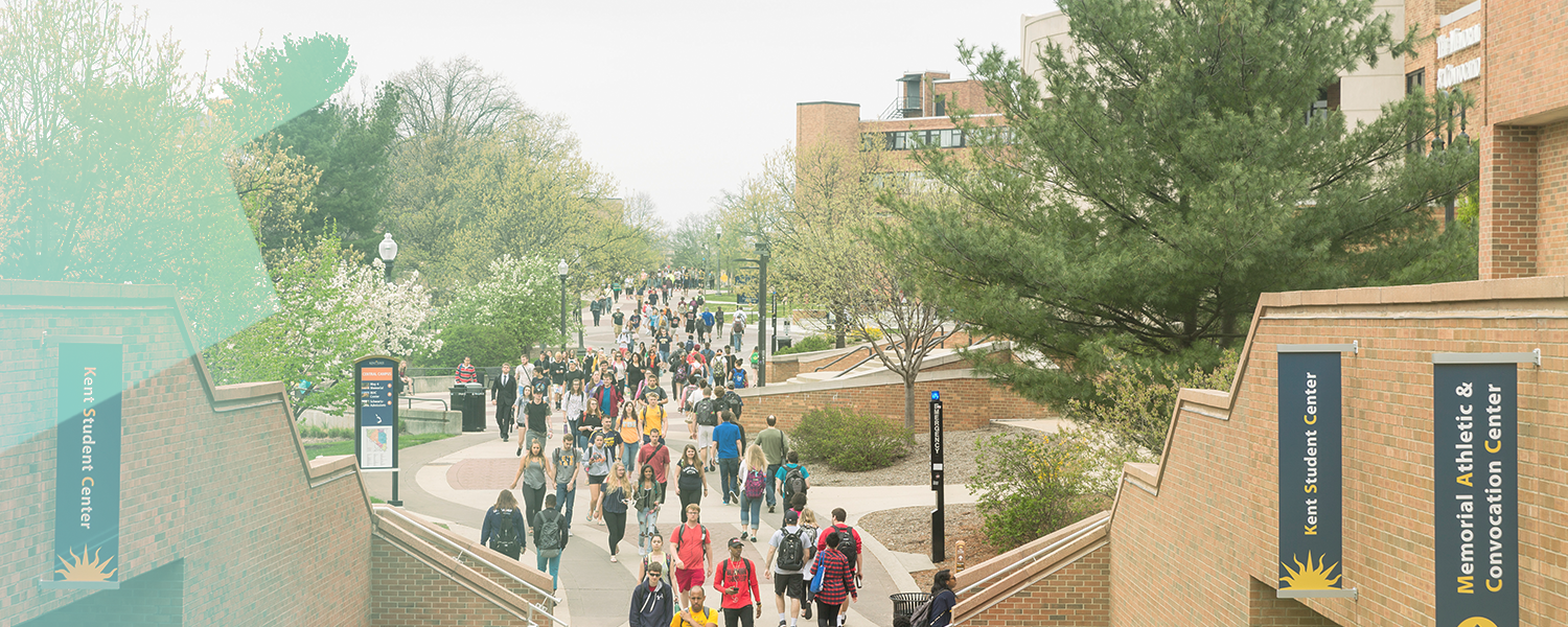 Students walking down the Esplanade
