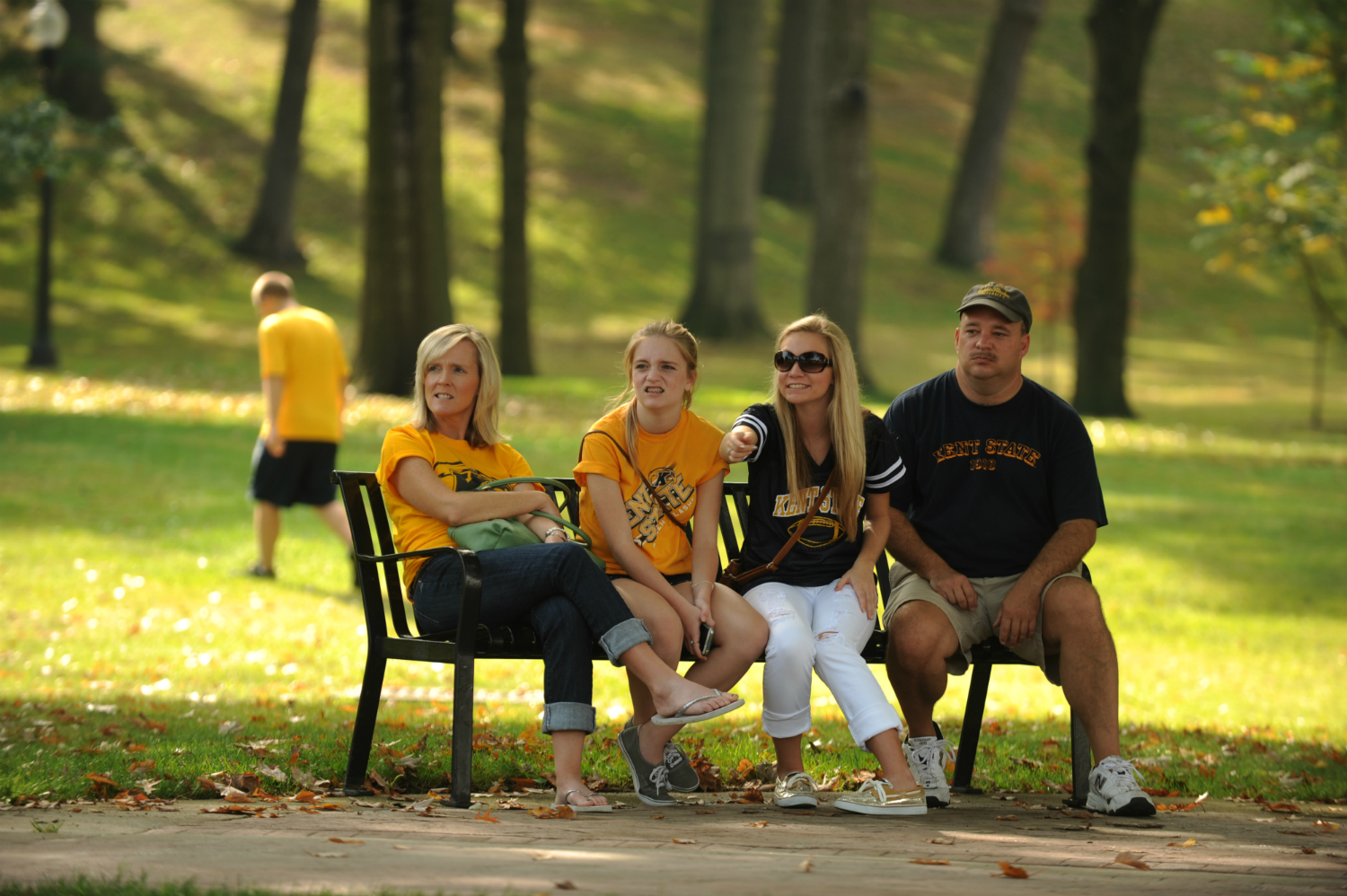 Students and their parents visit the KSU campus.