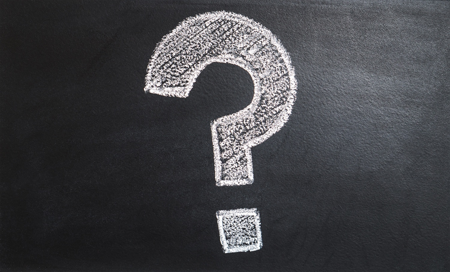 Picture of a question mark sign