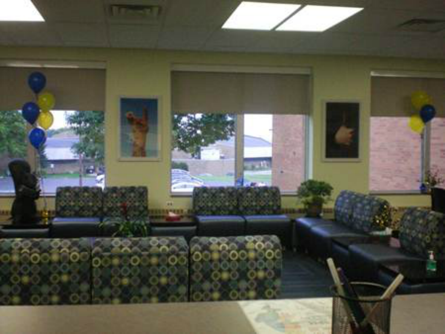 DeWeese Health Center waiting room